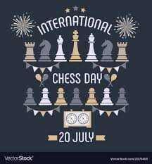 ♚ अंतर्राष्ट्रीय चैस दिवस - VINTERNATIONALE 1211121 CHESS DAY 20 JULY Vector Stock - ShareChat