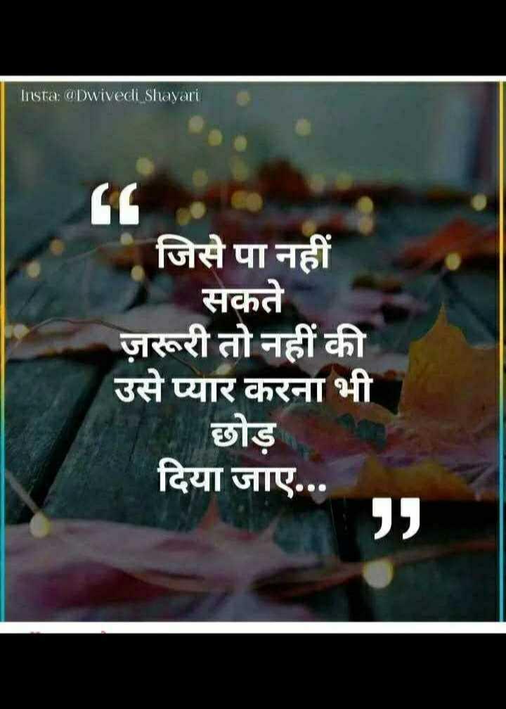 📒 मेरी डायरी - Insta : @ Dwivedi Shayari जिसे पा नहीं सकते ज़रूरी तो नहीं की उसे प्यार करना भी छोड़ दिया जाए . . . - ShareChat