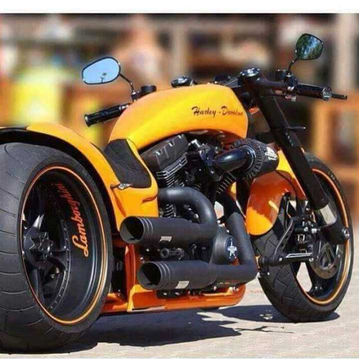 stylish bike - Harley - Daniela Lambou - ShareChat
